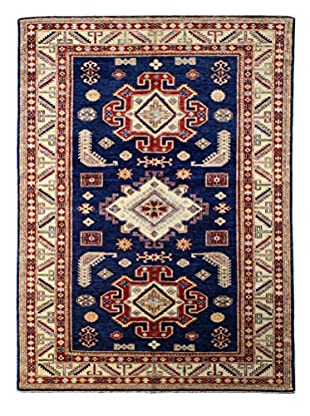Bashian Rugs One-of-a-Kind Hand Knotted Kazak Rug, Dark Blue, 5' 7