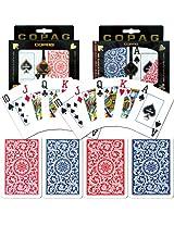Copag Poker & Bridge Jumbo Index - Blue-Red Set Of 2