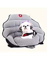 PupSaver Crash-Tested Car Safety Seat for Small Dogs (Black & White Houndstooth with Black Back)