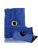 HDE iPad Mini Tablet Case Rotating Flip Stand Folding Magnetic Cover for Apple Mini 2/3 Retina (Blue Cartoon)