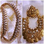 Ramleela style earrings with payal