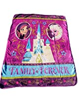 Frozen Royal Plush Raschel Throw 50X60 inches-- Family Forever