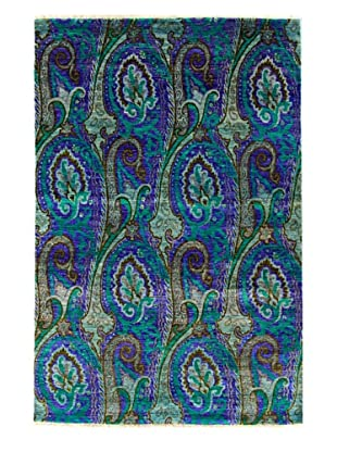 nuLOOM Hand-Knotted Paisley Rug (Light Blue)