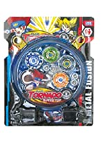 Stadium BeyBlade With Clash Tornado Speed Top(4 Beyblades)