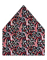 Tiekart Printed Silk Pocket Square (Ps361_Multi)
