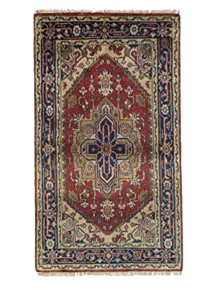 Rug Republic One Of A Kind Indo-Serapi Hand Knotted Rug, Antique Red/Multi, 2' 11