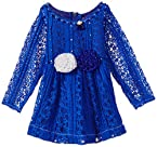 Priyank Girl's Party and Evening Dress (9680Blue_6-12_Months)