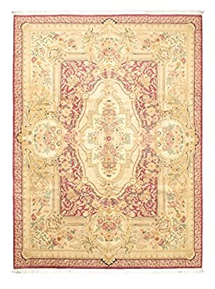 Hand-Knotted Double Knot Wool Rug, Dark Orange-Red, 10' x 13' 8
