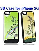 Bracevor 3D Ultra slim magical Rainbow Hard Back Case for Apple iPhone 5 5s