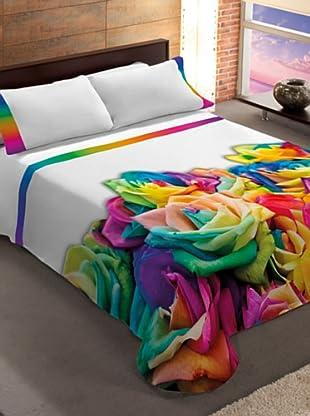 Manterol Cubrecamas Rosas (Multicolor)