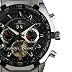 ESS Men's Dial Stainless Steel Tourbillon Mechanical Watch WM303 Black