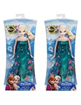 Disney Frozen Fever Birthday Party Elsa Doll ... (Two Pack)