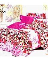 Birde Pink Floral Double Bedsheet Set