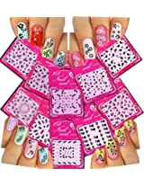 Adorable Nail Art 3D Stickers Decals With Rhinestones Variety Pack of 10 - Flowers and Butterflies / FLII /