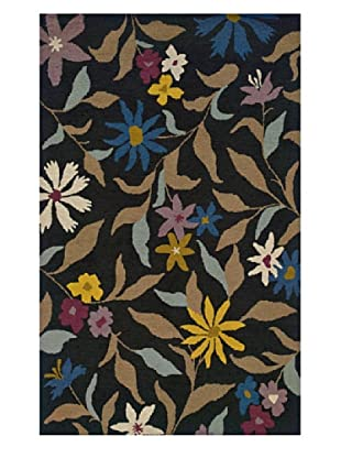 Heirloom Rugs Floral Garden Rug (Charcoal/Multi)