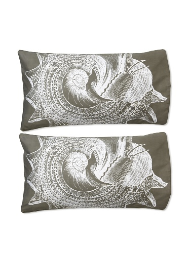 Thomas Paul Shell Pillow Shams (Charcoal)
