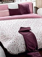 Manterol Juego De Funda Nórdica Algodón Estampado (Blanco / Rosa)
