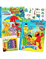 Sesame Street Coloring Book Super Set With Sesame Street Crayons 2 Coloring Books, Over 160 Coloring Pages And 60 Stickers Total!