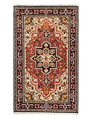 Hand-Knotted Royal Heriz Wool Rug, Copper, 3' x 5'