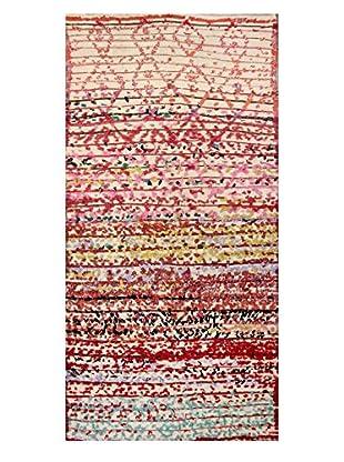 nuLOOM One-of-a-Kind Hand-Knotted Christensen Berber Shag Rug, Multi, 4' 1