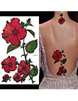 Supperb Temporary Tattoos Red Morning Glory