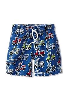Azul Swimwear Boy's Moped Boardshorts (Blue)