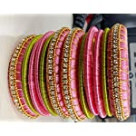 Clear Plastic Traditional Bangle Set of 12