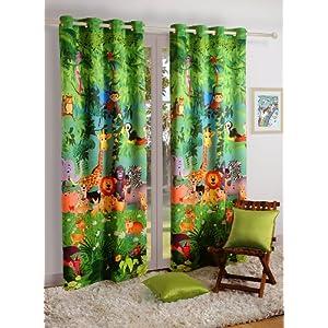 Swayam Door Curtain Jungle - Single Piece