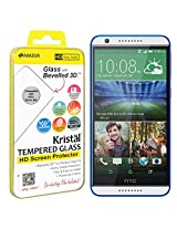 AMZER Kristal Tempered Glass HD Screen Protector for HTC Desire 820 Series - Retail Packaging - HD Clear