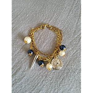 Knickknack Pear, Coin n Spikel Charmed Bracelet Bracelet