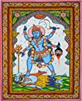 Mother Goddess Kali - Paata Painting on Patti - Folk Art from the Temple Town...