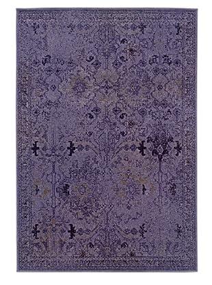 Granville Rugs Vintage Rug (Purple/Grey/Black)