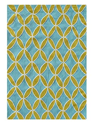 The Rug Market Diamonds Rug (Green/Blue)