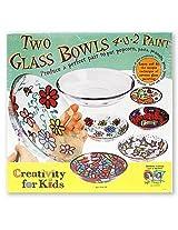 Creativity For Kids Two Glass Bowls 4 U 2 Paint 1 Pcs Sku# 1831938 Ma