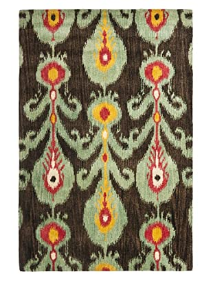 Safavieh Hand-Tufted Wool Ikat Rug (Charcoal/Blue/Multi)