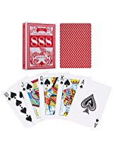 Bird Poker Size Playing Cards - Red (Set of 5)