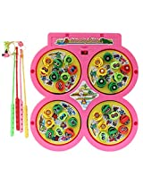 Multiplayer Fish Catching Game with Fishes and Fishing Rods for kids (Age 3+)