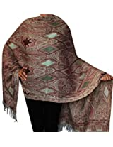Wool Indian Shawl Scarf Womens Clothing Accessory Gift (80 x 28 inches)