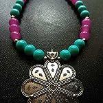 Handmade designer necklace and earrings.