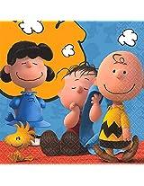 Peanuts Charlie Brown Beverage Napkins 16 Ct