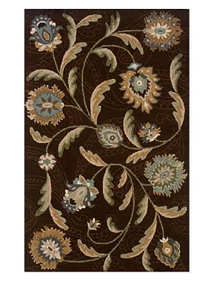 Heirloom Rugs Floral Garden Rug (Brown/Multi)