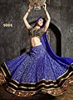 Fabboom New Arrival Blue Designer Lehanga Choli, Indowesten & Salwar Suit In Pant Style (3 in 1)