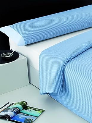 I- Home Juego Funda Nórdica Rayas (Azul)