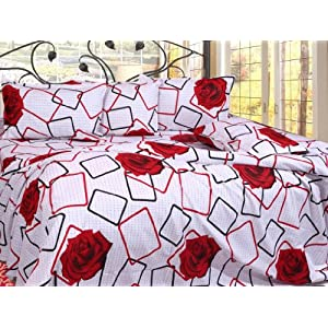 100% Cotton Casement Double Bedsheet &2 pillow covers- bedsheets/ bed sheet- D14