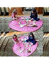 Generic 150cm Portable Kids Toy Storage Bag Play Mat Pink