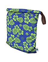 Planet Wise Roll Down Wet Diaper Bag, Blue Hawaii, Large
