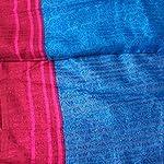 Blue Striped Cotton & Crush Saree With blouse piece