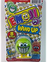 "Emoji 3"" Wind Up Toy Green Grinning Face Figure"