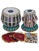 SANSKRITI MUSICALS Tabla Set -Black Brass Bayan 3 KG - Sheesham Dayan - EA