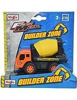 Maisto Builder Zone Cement Mixer Die Cast Toy Truck (Orange & Yellow)